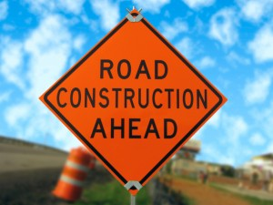 construction sign infrastructure improvements