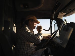 Learn about the types of distractions that truckers face on the road.